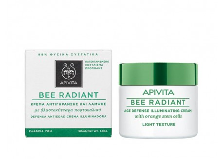 APIVITA Bee Radiant Κρέμα Αντιγήρανσης και Λάμψης ελαφριάς υφής