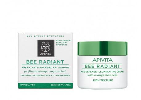 APIVITA Bee Radiant Κρέμα Αντιγήρανσης και Λάμψης Πλούσιας υφής