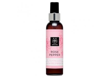 Apivita Rose Pepper Λάδι Μασάζ Αναδιαμόρφωσης 150 ml
