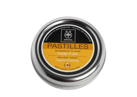 APIVITA Παστίλιες με μέλι & θυμάρι 45g