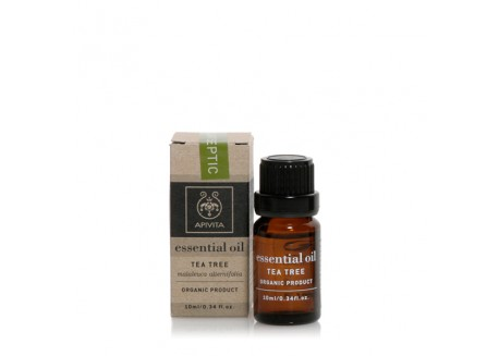 APIVITA Βιολογικό αιθέριο έλαιο Τεϊόδεντρο (Tea tree) 10ml