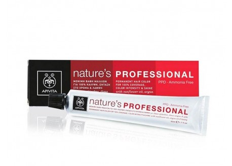 APIVITA Βαφή Nature's Professional 4.65 Καστανό Κόκκινο Μαονί