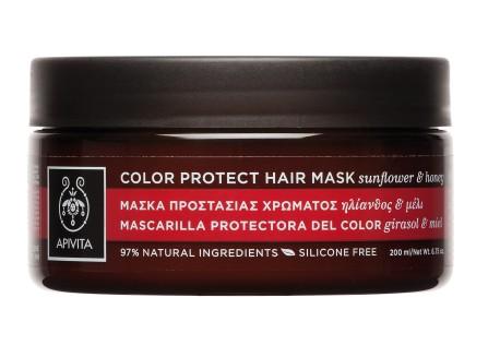 Apivita Μάσκα Προστασίας Χρώματος για Βαμμένα Μαλλιά 200 ml (ΝΕΟ