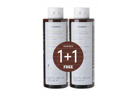 ΚΟΡΡΕΣ Σαμπουάν για λεπτά - αδύναμα μαλλιά 250 ml 2 τεμάχια