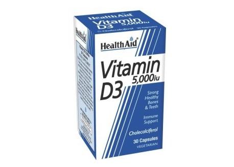 HealthAid Vitamin D3 5000 iu 30 caps