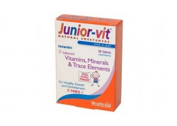 HealthAid Junior Vit με γεύση 30 tabs