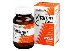 HealthAid Vitamin C 500 mg Chewable Orange Flavour 60 tabs