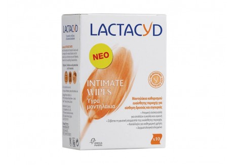 Lactacyd Intimate Wipes 10 τεμάχια