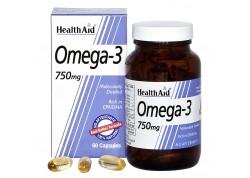 HealthAid Omega 3 750 mg (EPA 425 mg, DHA 325 mg) 60 caps