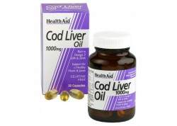 HealthAid Cod Liver Oil 1000 mg vegetarian 30 caps