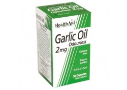 HealthAid Garlic Oil 2 mg odourless vegetarian 30 caps