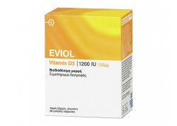 EVIOL Vitamin D3 1200IU (30μg) 60caps