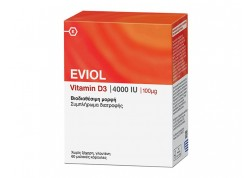 EVIOL Vitamin D3 4000IU (100μg) 60caps