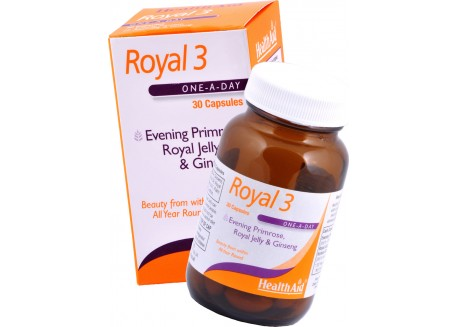 HealthAid Royal 3 Royal Jelly, Evening Primrose Oil & Ginseng 30