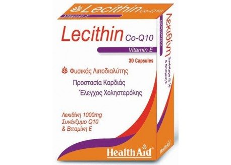 HealthAid Lecithin 1000 mg & Co-Q-10 & Vitamin E 30 caps