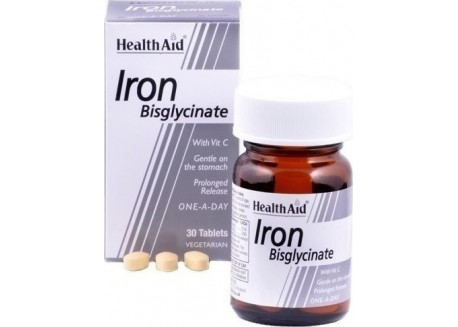 HealthAid Iron Bisglycinate (with Vitamin C) 30 tabs