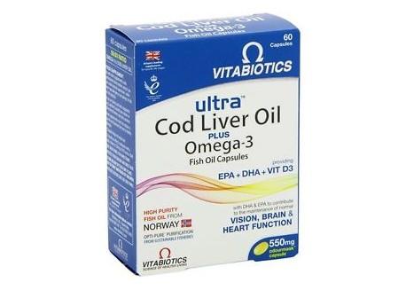 VITABIOTICS Cod Liver Oil plus Omega-3 60 caps
