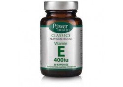 Power Health Platinum Vitamin E 400iu 30 κάψουλες