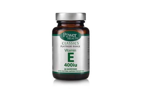Power Health Platinum Vitamin E 400iu 30 κάψουλες