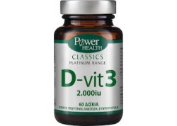 Power Health Platinum D-vit 3 2000 iu 60 δισκία