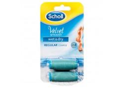 Scholl Velvet Soft Ανταλλακτικά Roll On Regular Coarse 2 τεμάχια