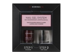 Κορρες Nail Gel System Wine Red 10 ml & Top Coat 10 ml
