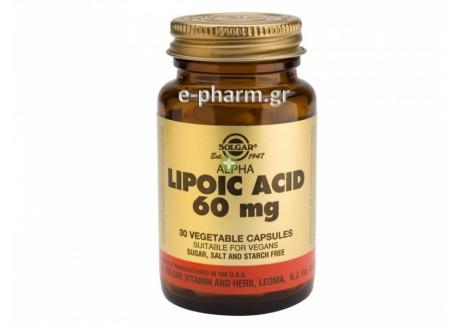 Solgar Alpha Lipoic Acid 60 mg veg. caps 30s