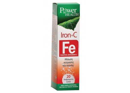 Power Health Iron + C 20 αναβραζ. δισκία