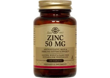 Solgar Zinc Gluconate 50 mg tabs 100s