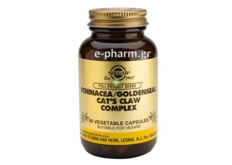 Solgar Echinacea/Goldenseal/Cat's Claw veg.caps  60s