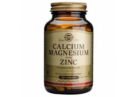 Solgar Calcium Magnesium + Zinc tabs 100s