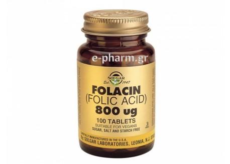 Solgar Folic Acid  800 μg tabs 100s