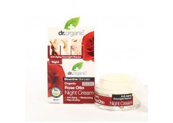 dr.organic Night Cream με έλαιο Τριαντάφυλλου 50 ml
