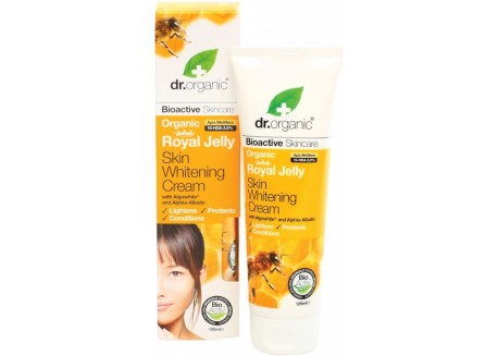 dr.organic Skin Whitenning Cream με βασιλικό πολτό 125 ml