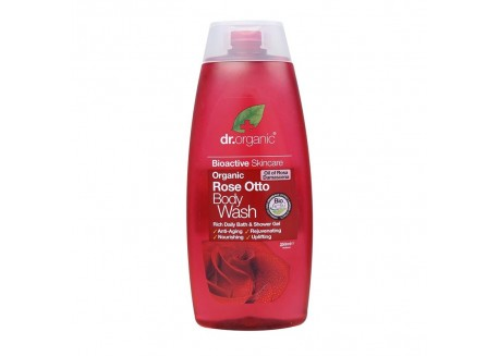 dr.organic Body Wash με έλαιο Τριαντάφυλλου 250 ml