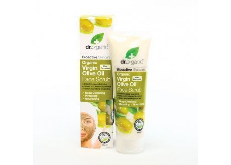 dr.organic Face Scrub με Λάδι Ελιάς 125 ml