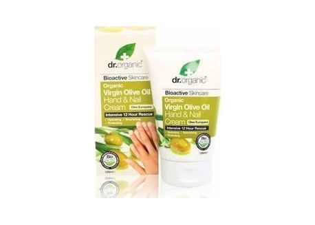 dr.organic Hand & Nail Cream με Λάδι Ελιάς 125 ml
