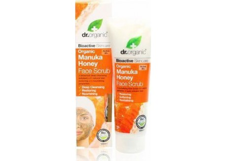 dr.organic Face Scrub με μέλι μανούκα 125 ml