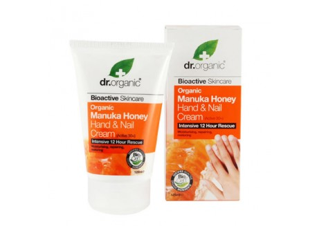 dr.organic Hand & Nail Cream με μέλι μανούκα 125 ml