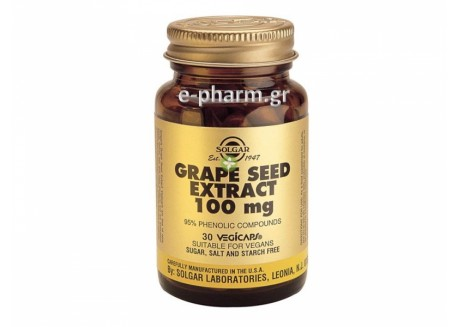 Solgar Grape Seed Extract 100 mg veg. caps 30s