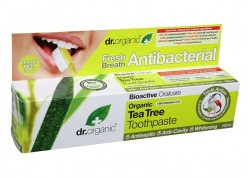 dr.organic Toothpaste (Antibacterial) με Τεϊόδεντρο 100 ml