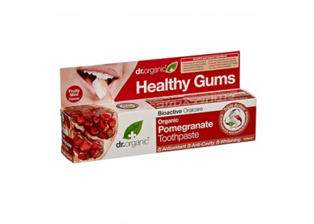 dr.organic Toothpaste με Ρόδι 100 ml