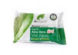 dr.organic Wet Wipes με βιολογική αλόη βέρα 20 τεμάχια