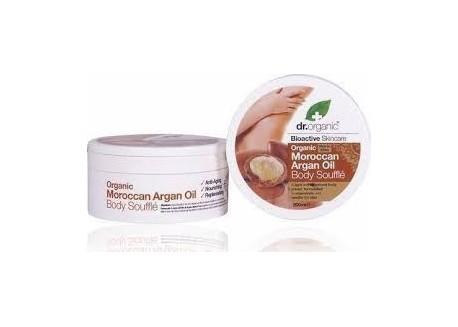 dr.organic Body Souffle με βιολογικό έλαιο αργκάν 200 ml