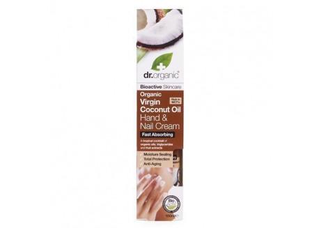 dr.organic Hand & Nail Cream με βιολογικό έλαιο καρύδας 100 ml