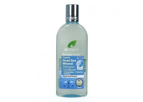 dr.organic Shampoo & Conditioner 2 in 1 με στοιχεία από τη νεκρά