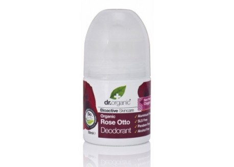 Dr.organic deodorant με βιολογικό έλαιο τριαντάφυλλου 50 ml