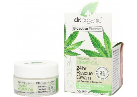 Dr.Organic 24hr Rescue Cream με βιολογικό κανναβέλαιο 50 ml