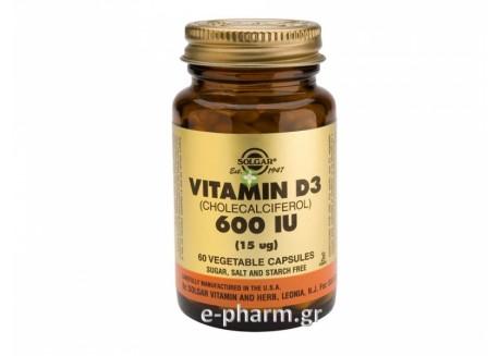 Solgar Vitamin D-3 600 IU 60 veg. caps