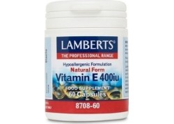 Lamberts E 400 IU Natural 60 caps